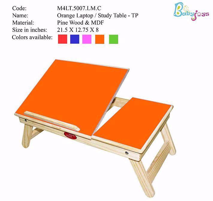 Baby Laptop Table Orange  Half