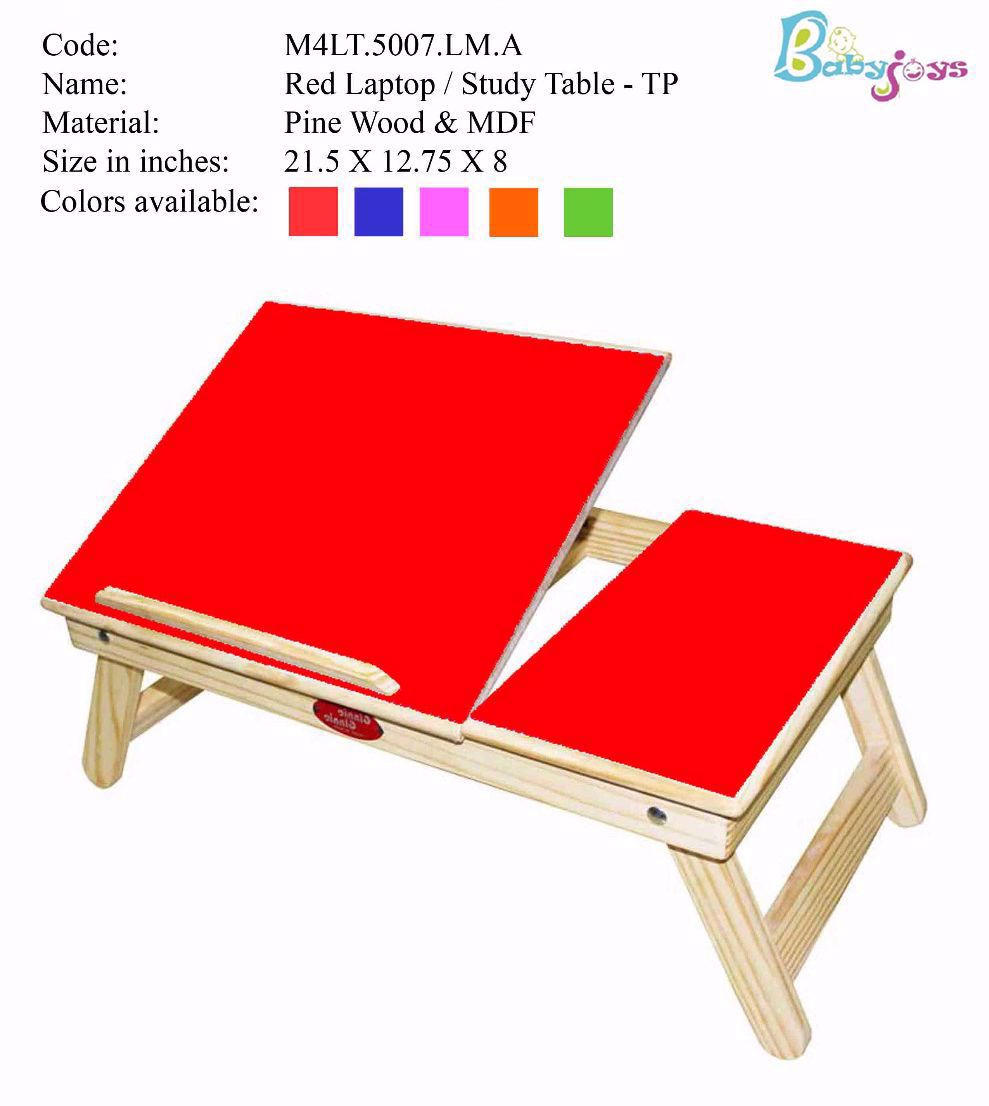 Baby Laptop Table Red   Half