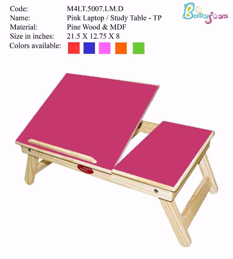 Baby Laptop Table Pink   Half