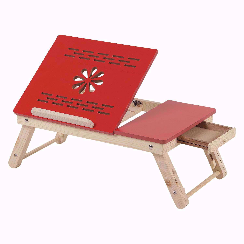 Laptop  Red Half Flower Design
