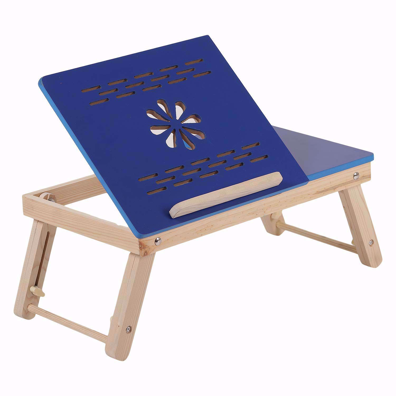 Laptop  Blue Half Flower Design