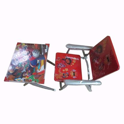 Picture of kids Metal  Study Table Chair -  Blue