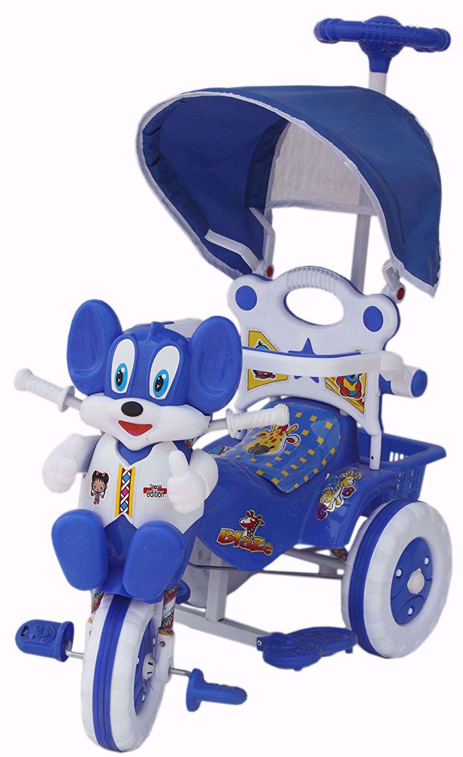 Baby Parental Tricycle  Blue