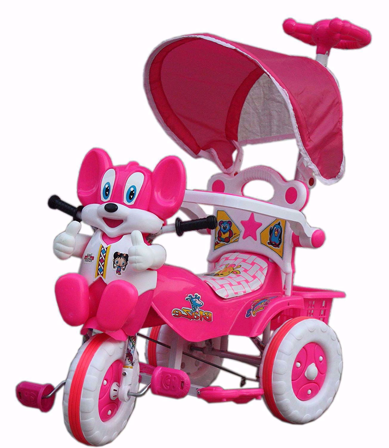 Baby Parental Tricycle Pink