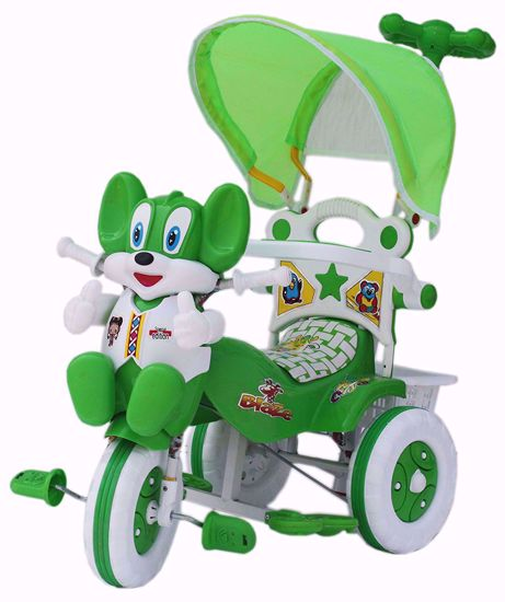 Baby Parental Tricycle Green