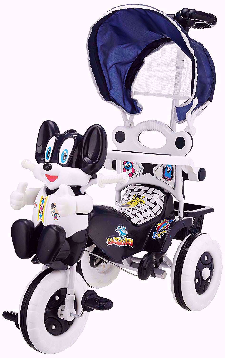 Baby Parental Tricycle Navy Blue