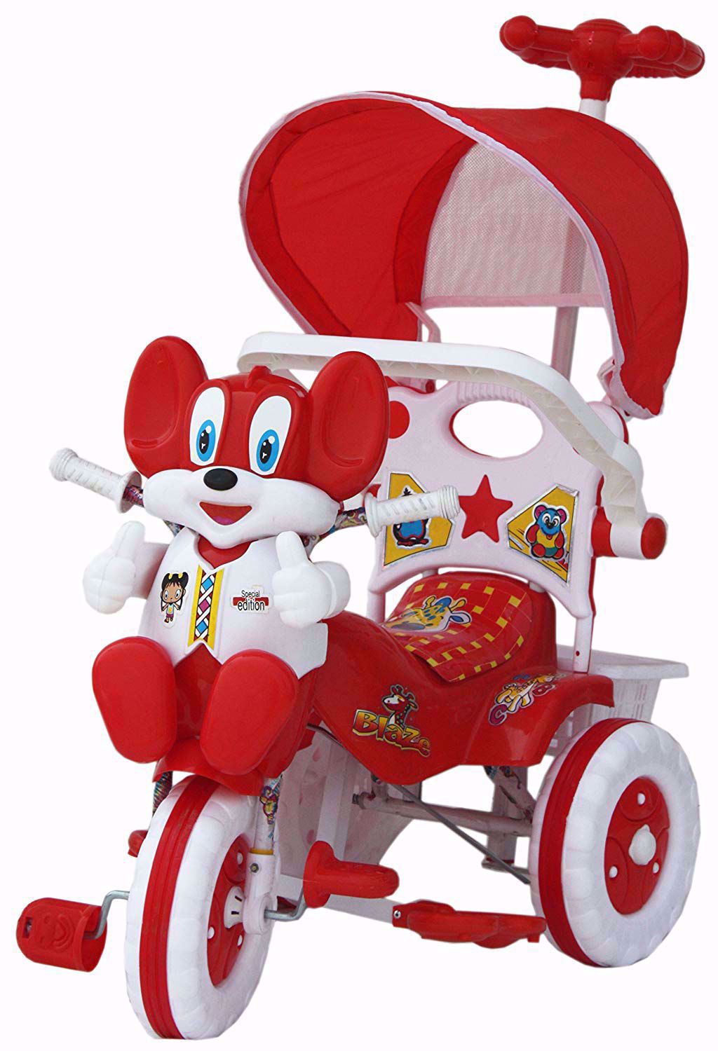 Baby Parental Tricycle Red