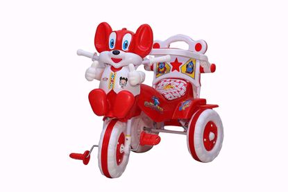 Baby Tricycle Without Parent Control Red