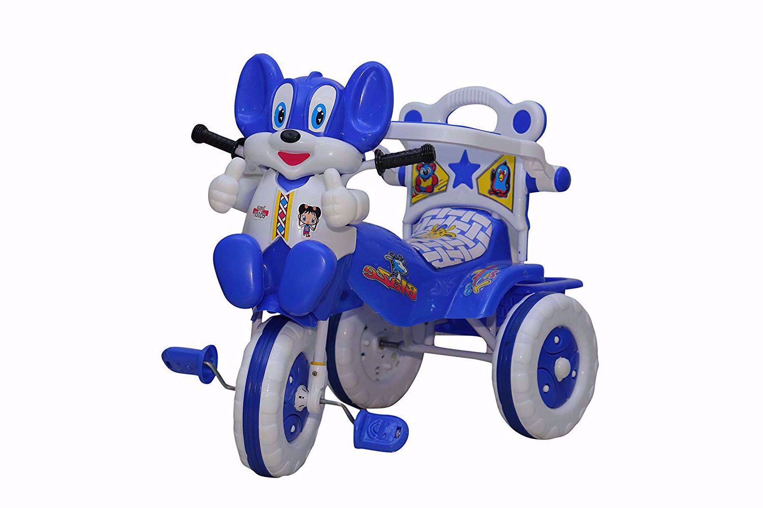 Baby Tricycle Without Parent Control  Blue