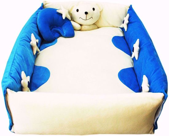 Play Mat With Pillow-Blue And White