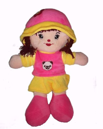 Picture of Adi Girl Soft Toy Pink-Yellow