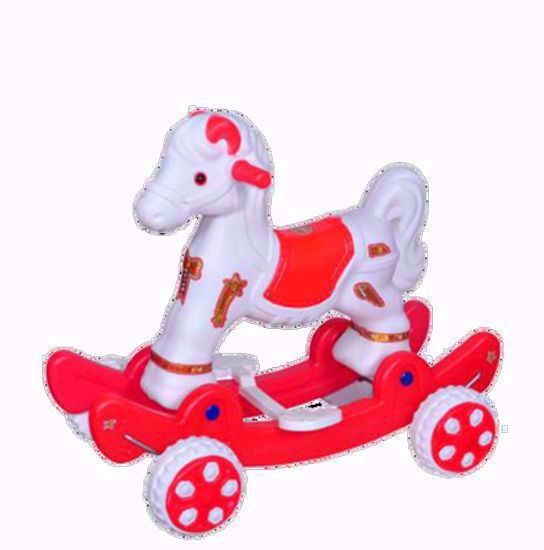 Baby Horse Rider - white and red