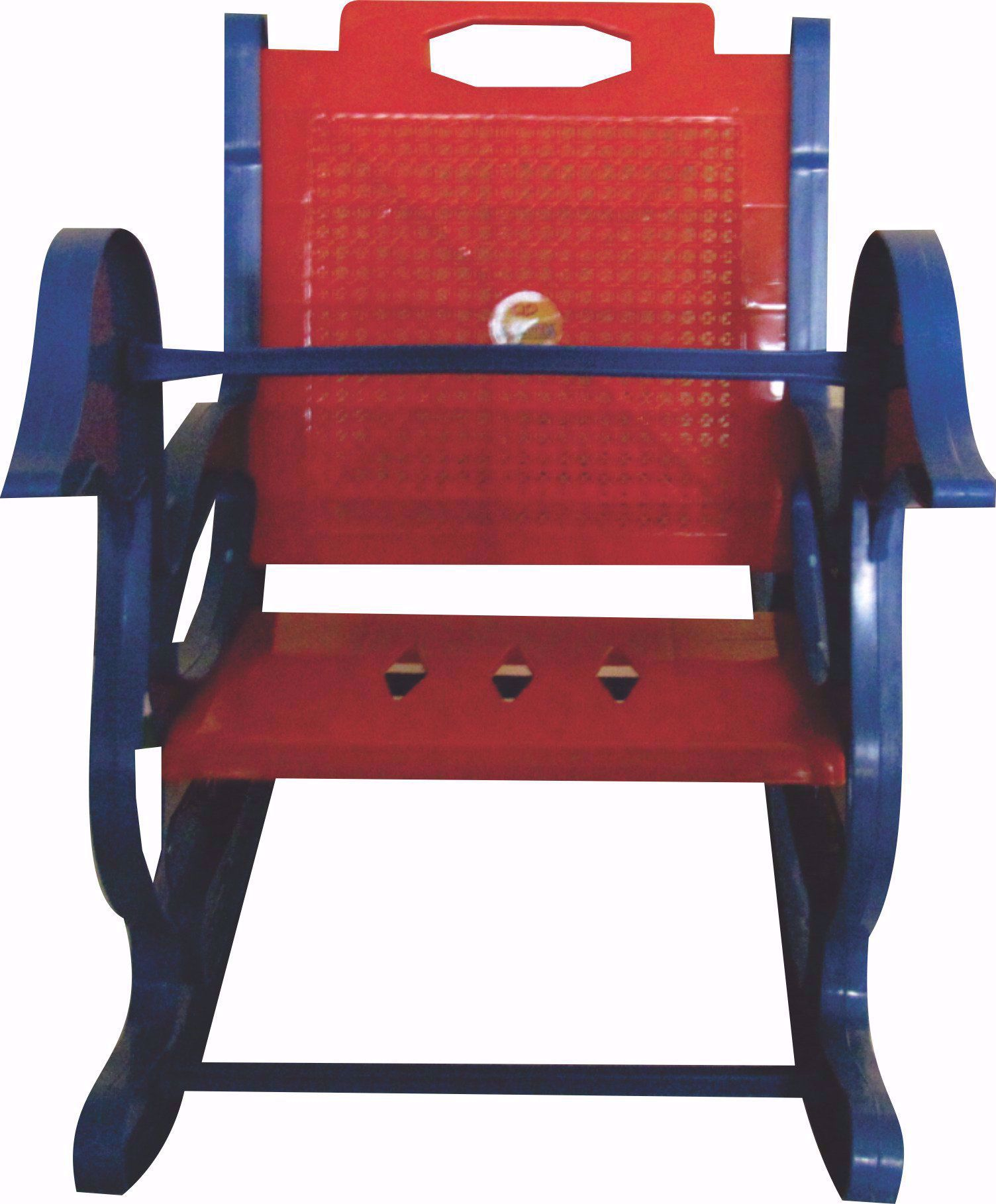 Baby Rocking Chair Blue & Red