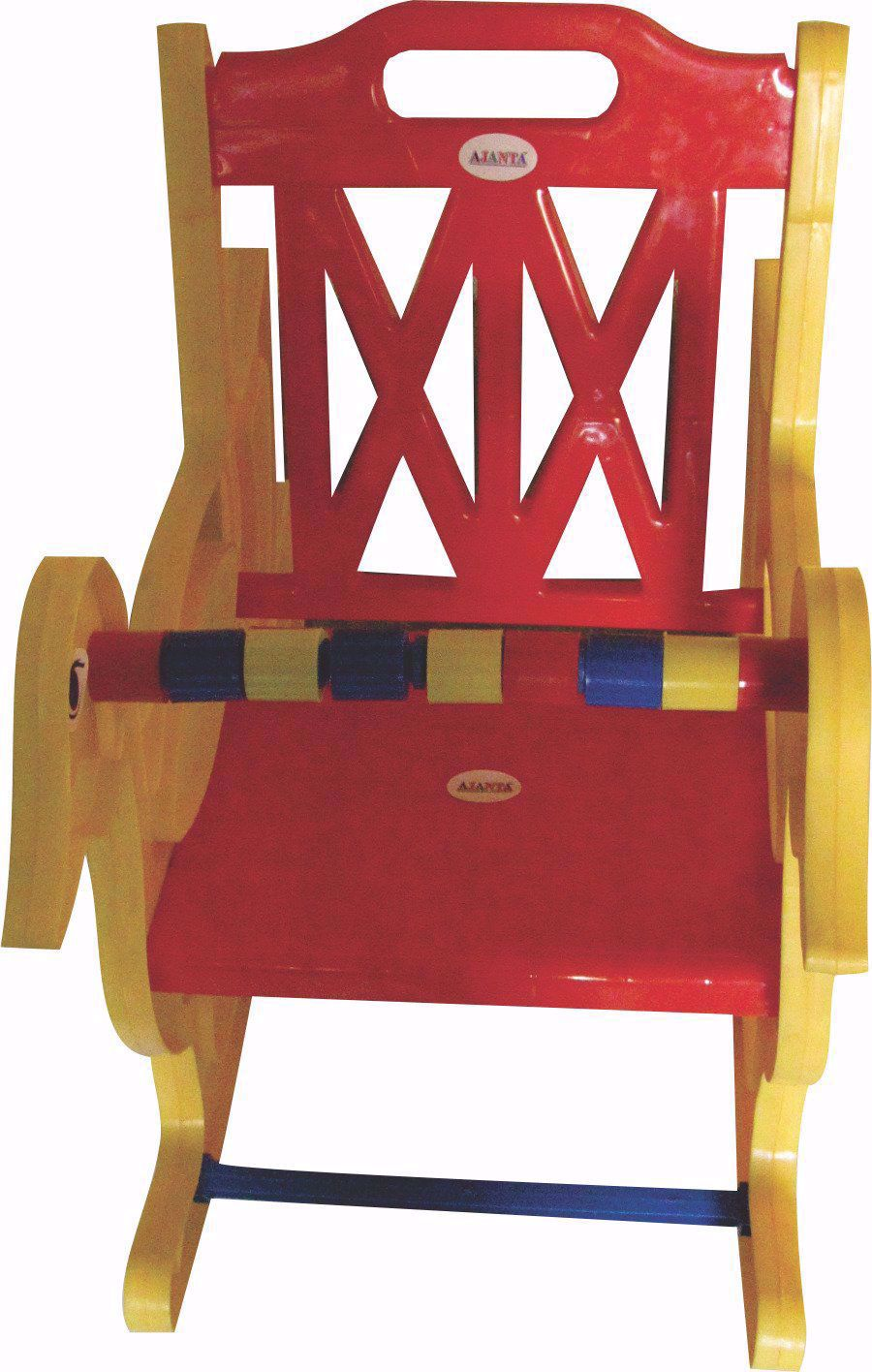 Baby Rocking Chair Yellow & Red