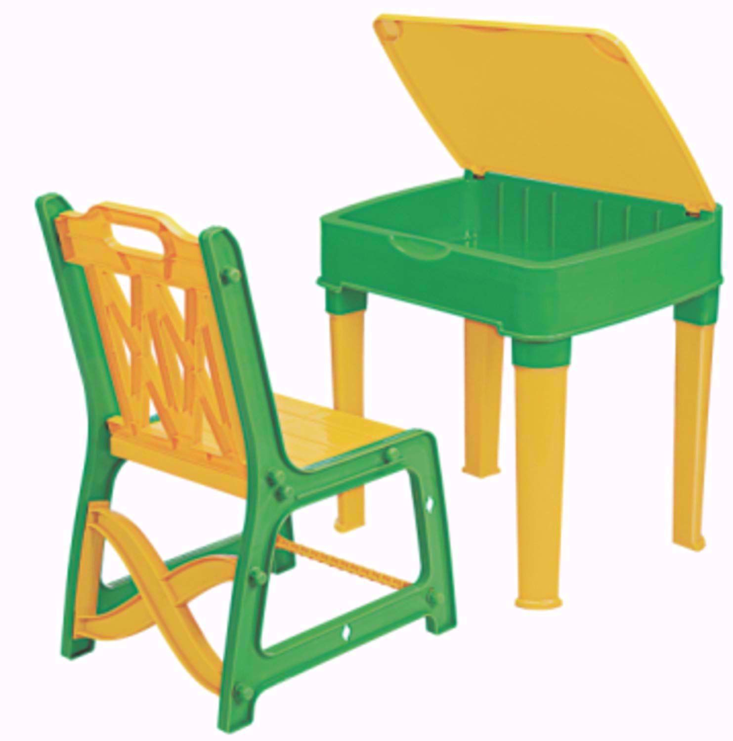 Baby Study Table Yellow & Green