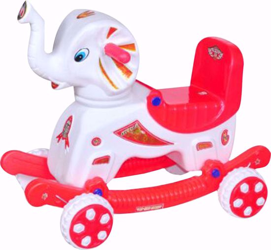 Musical baby Elephant Rider white & Red , musical Elephant rider online