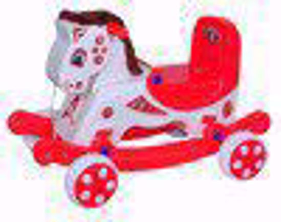 Musical Baby Mongolian Rider  White And Red