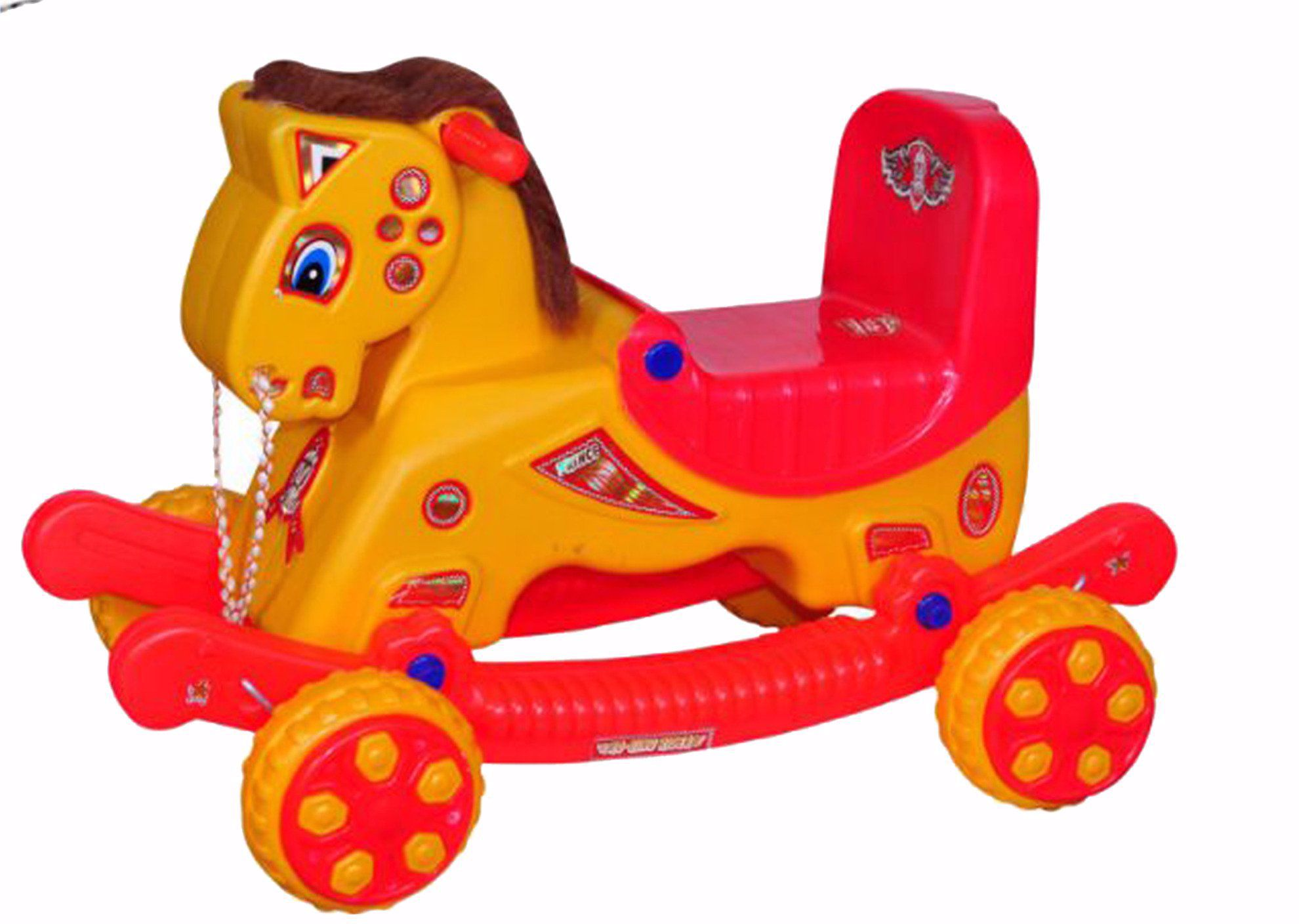 MUSICAL BABY RIDER -Yellow & RedMUSICAL BABY RIDER -Yellow & Red, musical baby rider online