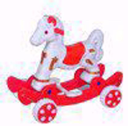 Musical baby Horse Rider White & Red