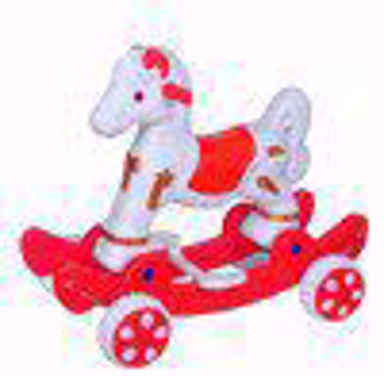 Musical baby Horse Rider White & Red