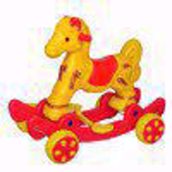 Musical baby Horse Rider Yellow & Red