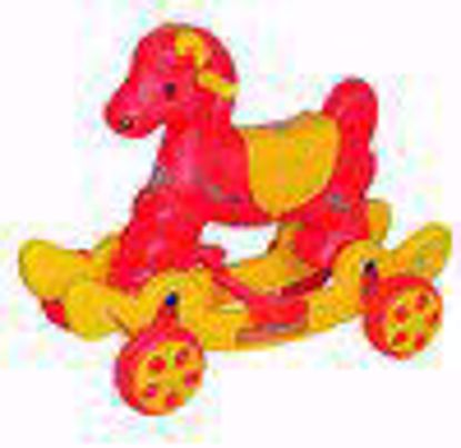 Musical baby Horse Rider Red & Yellow