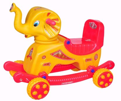 baby Elephant Rider Red & Yellow