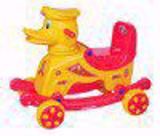 Baby Duck Rider yellow and red