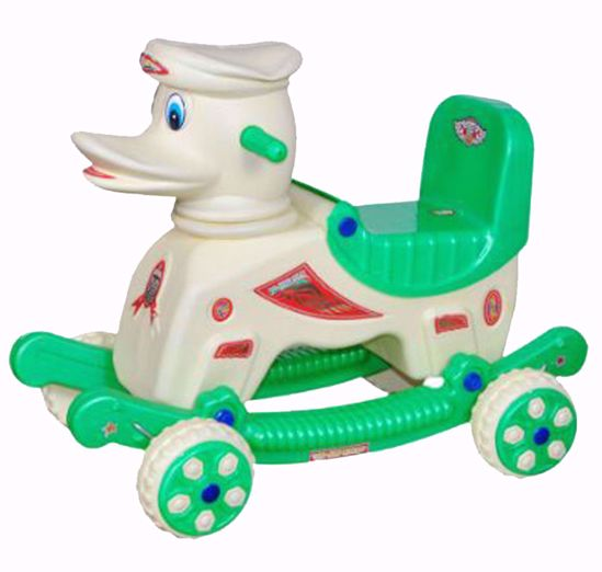 Baby Duck Rider Cream & Green