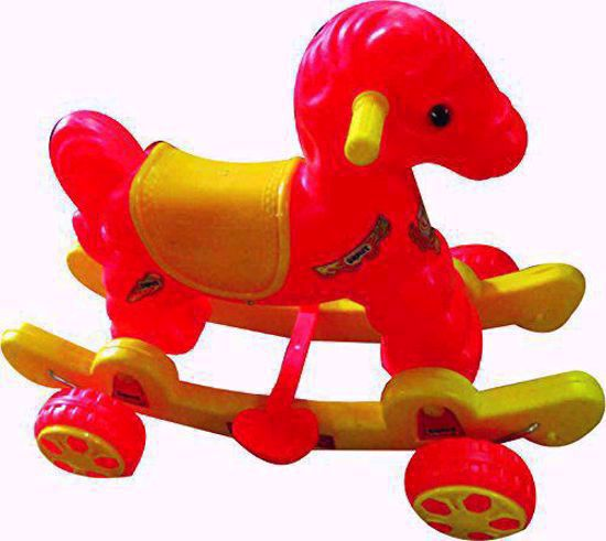 Baby Horse Rider - red and yellow