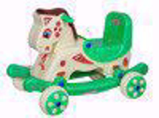 Baby Rider - cream and green Mongolian