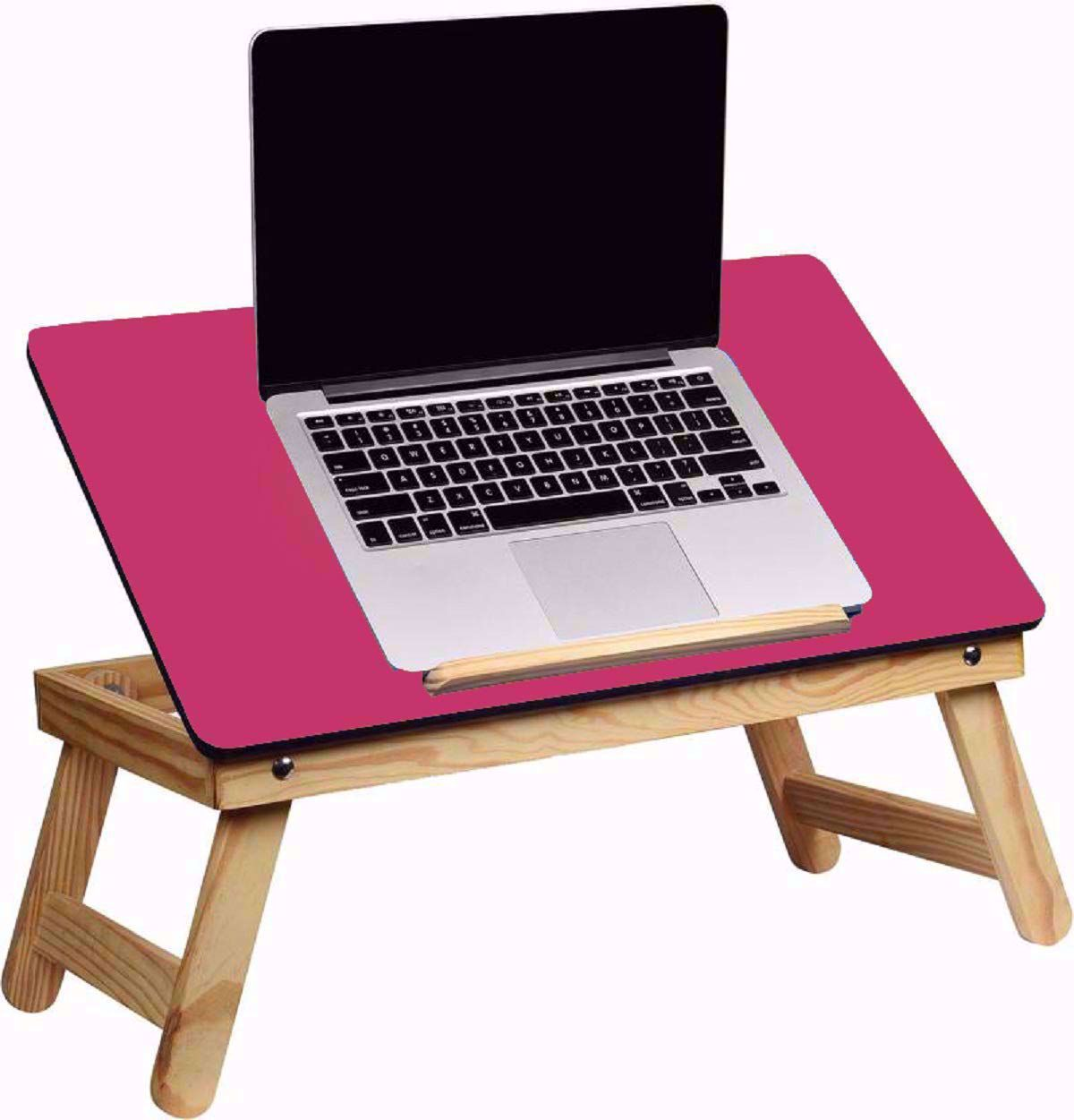 Laptop Desk Bed Student Study Meal Table -Pink