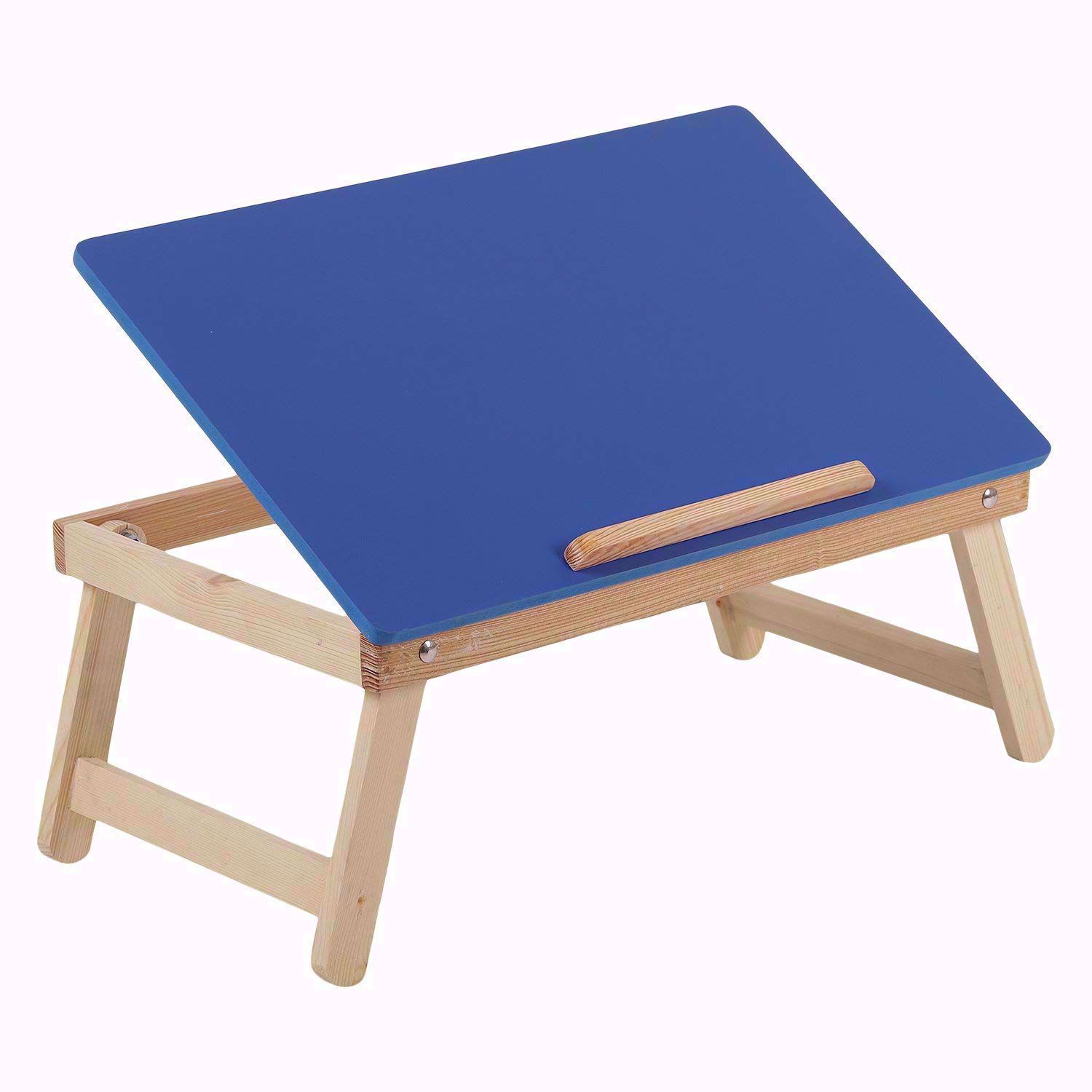 Laptop Desk Bed Student Study Meal Table -Blue