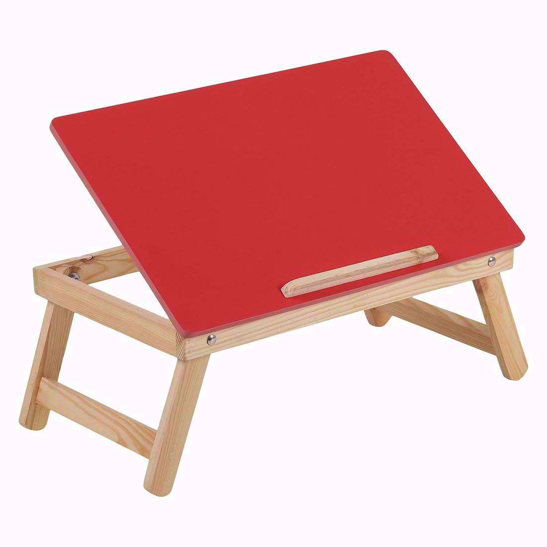 Laptop Desk Bed Student Study Meal Table -Red