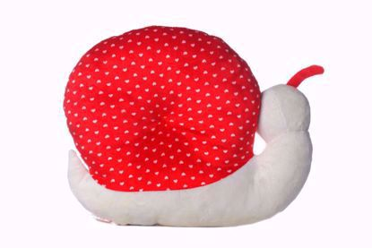 Snail Pillow Red - White
