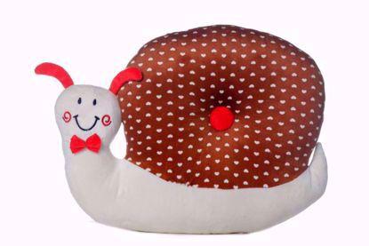 Snail Pillow - Brown & White