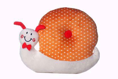 Snail Pillow - Orange & White