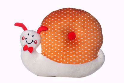 Snail Pillow Orange & White