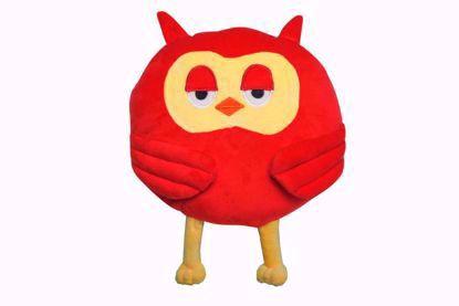 Owl shape Pillow - Red