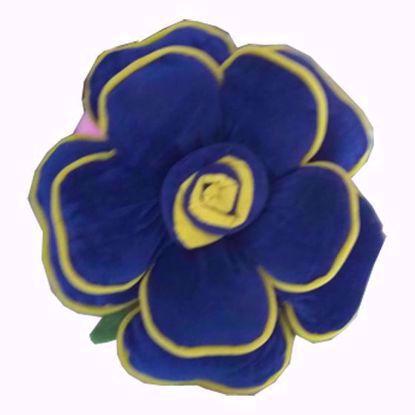 Flower-Pillow- Blue