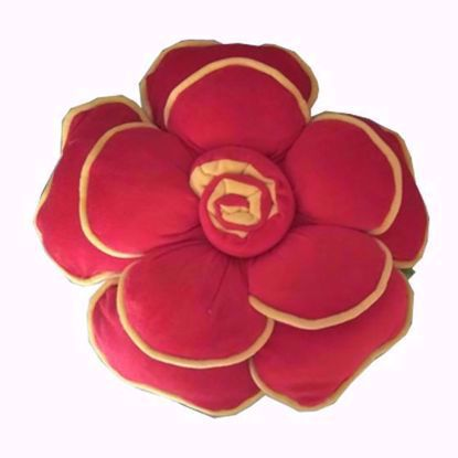 Flower-Pillow- Red