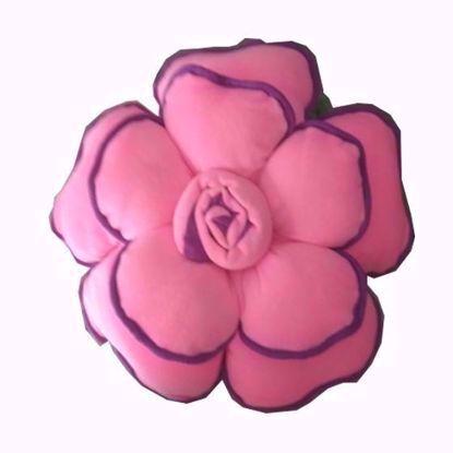 Flower- Pillow- Dark Pink