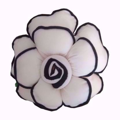 Flower- Pillow- White