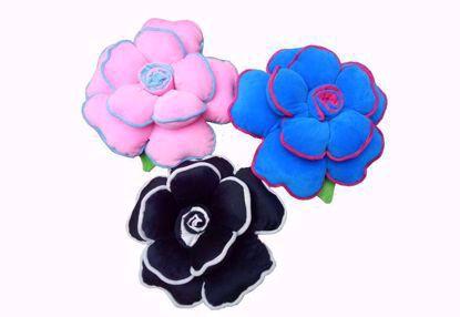 pillow-set-of-3, Pink, Blue, Black