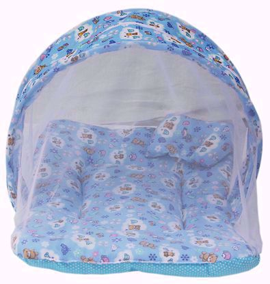 toddler-mattress-with-mosquito-net-blue