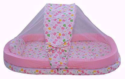 mattress-with-mosquito-net-pink-teddy