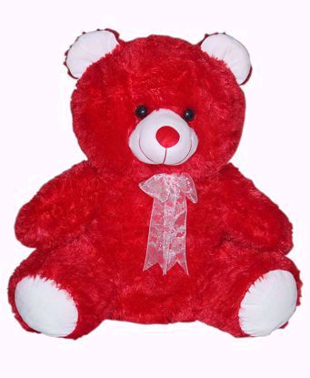 Teddy Bear Ribbon - Red