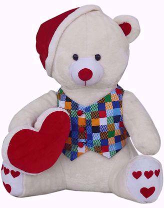 Teddy With  Santa Cap