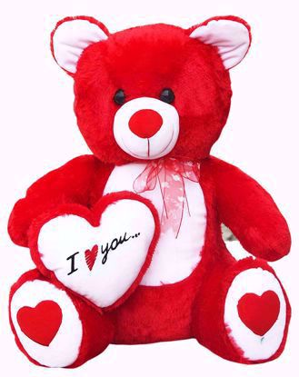 Teddy-With-L-love-You-Red