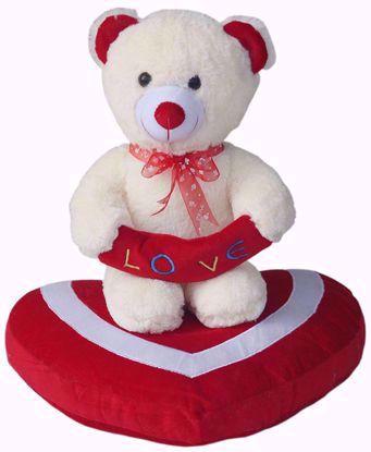 Teddy-On-Heart-40Cms